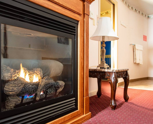 Fireplace Room With View Belfast Maine