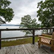 Shore Cottage Deck With View Of Bay