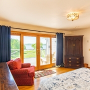 Caswell House Rental Belfast Maine Master Bedroom And View