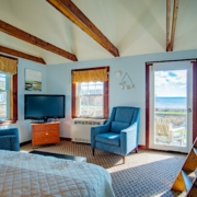 Belfast Maine Vacation Cottage Living Room With View