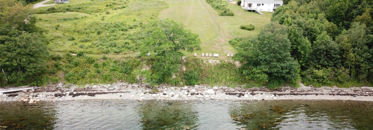 Aerial View Of Our Belfast Maine Motel From Penobscot Bay