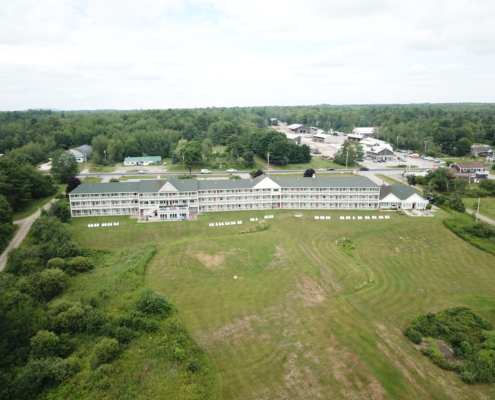 Aerial View Of Our Belfast Maine Motel